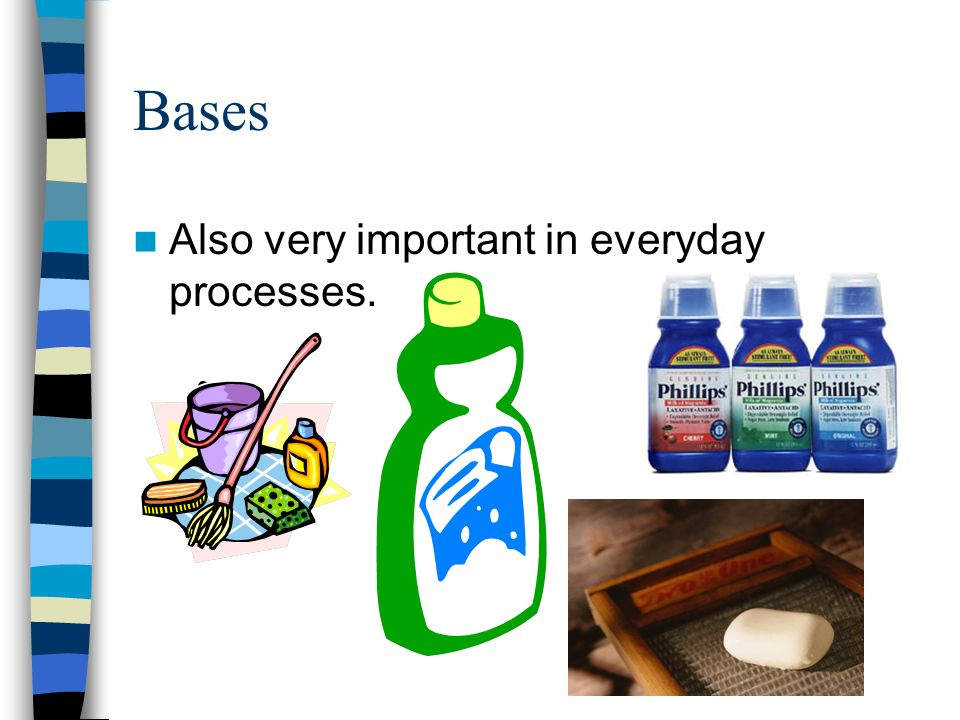 Bases Also very important in everyday processes.
