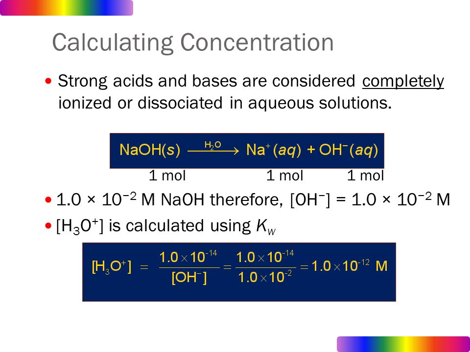 how to find concentration from oh