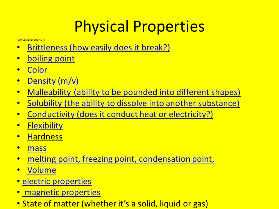 Physical Properties Brittleness (how easily does it break )