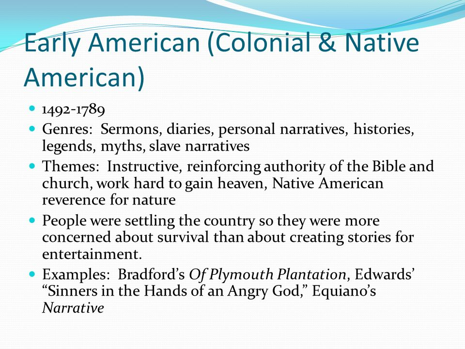 native american personal narratives