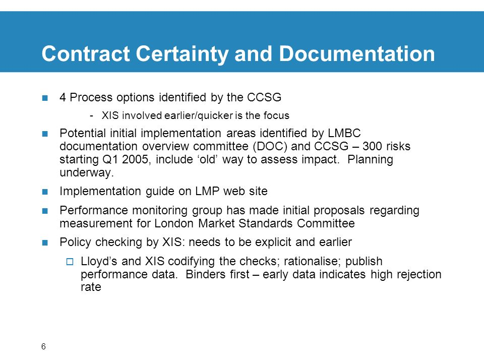 Contract Certainty and Documentation
