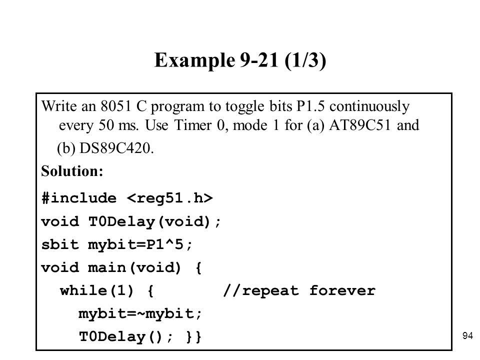 8051 c code example
