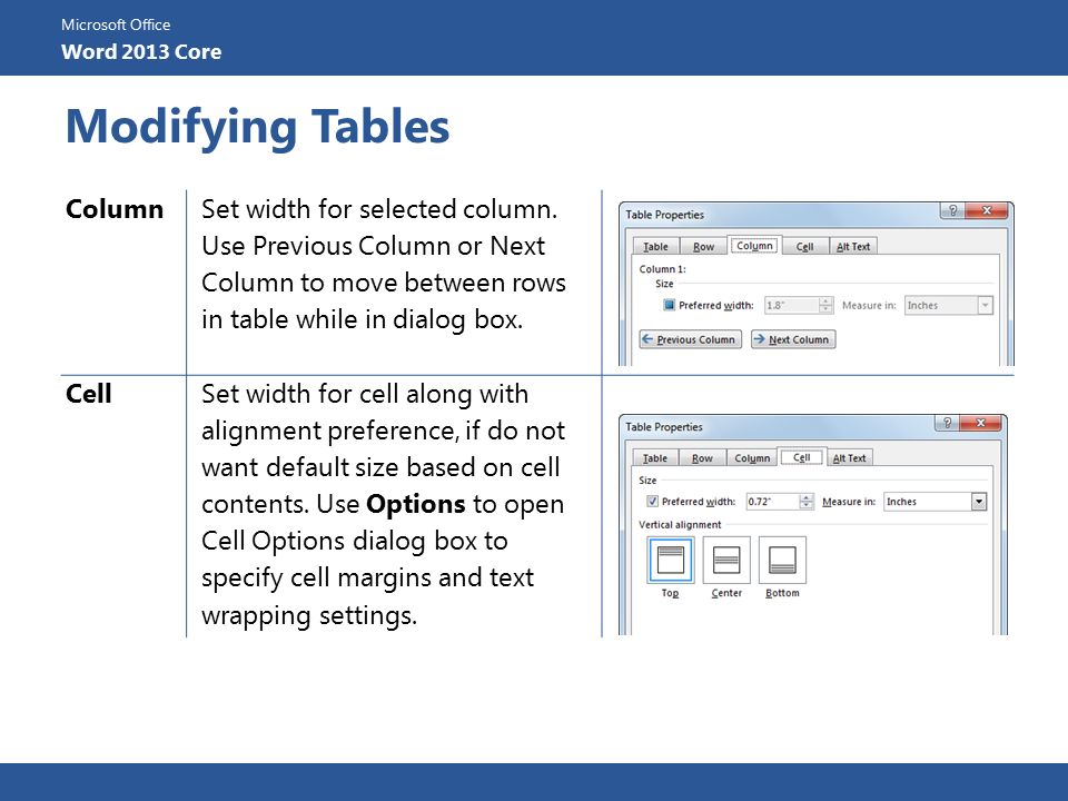 Lesson 5: Using Tables. - ppt download