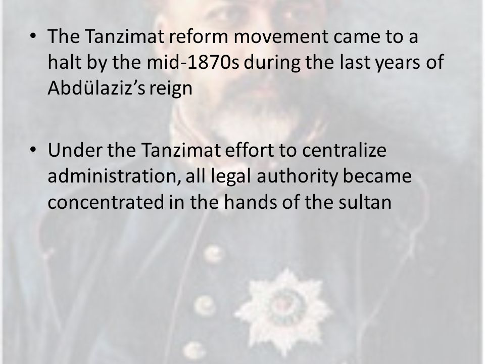 the tanzimat