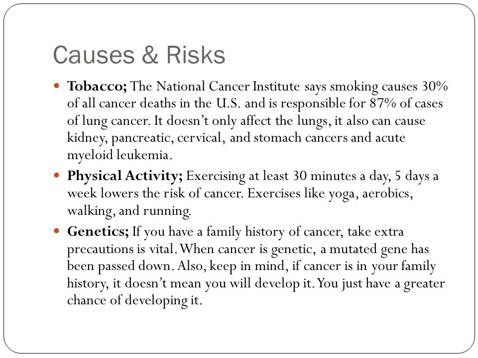 Causes & Risks