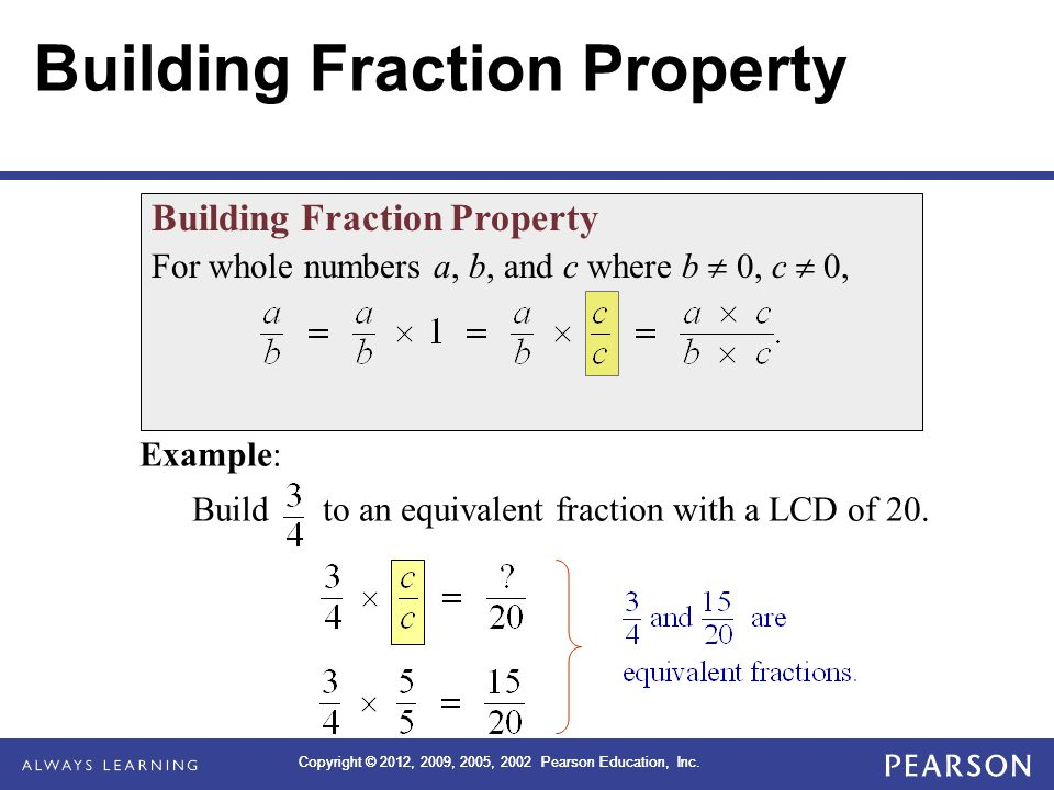 Building Fraction Property
