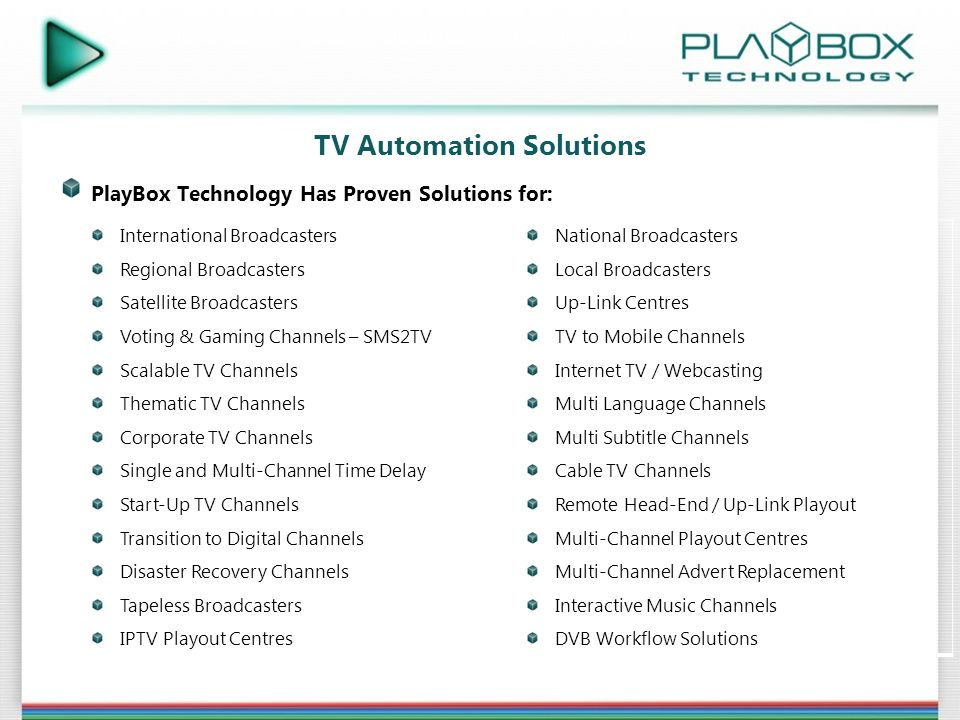 PlayBox Technology Corporate Presentation - ppt download
