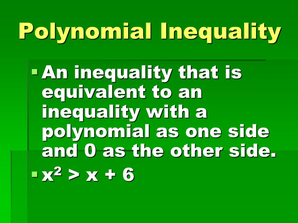 Polynomial Inequality