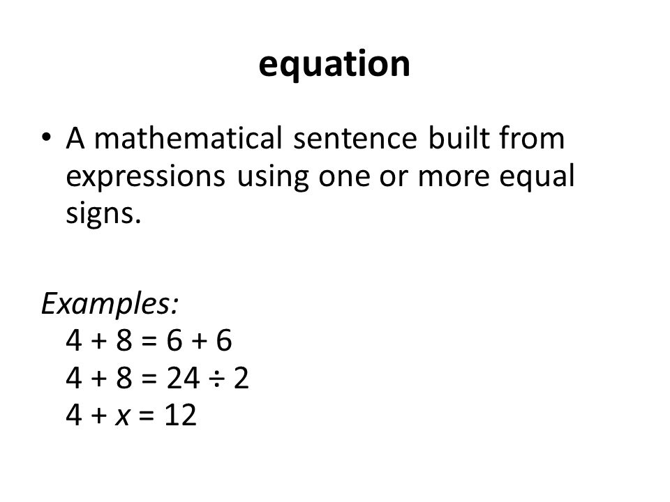 Open sentences (algebra1 1_3).