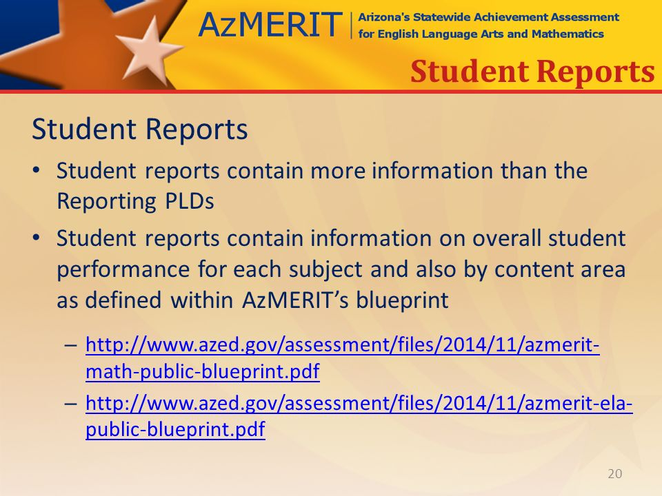Azmerit performance level descriptors ppt download 20 student reports student reports malvernweather Images