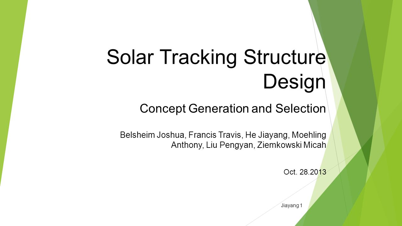 Solar Tracking Structure Design Concept Generation And Selection Simple Tracker Circuit Diagram Image