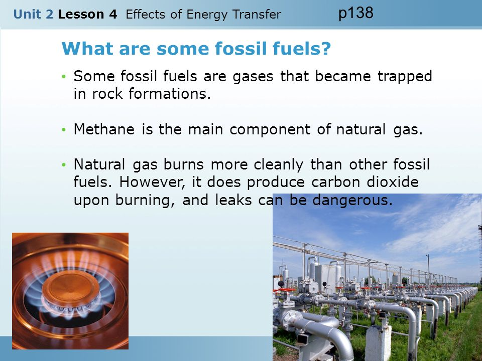 What are some fossil fuels