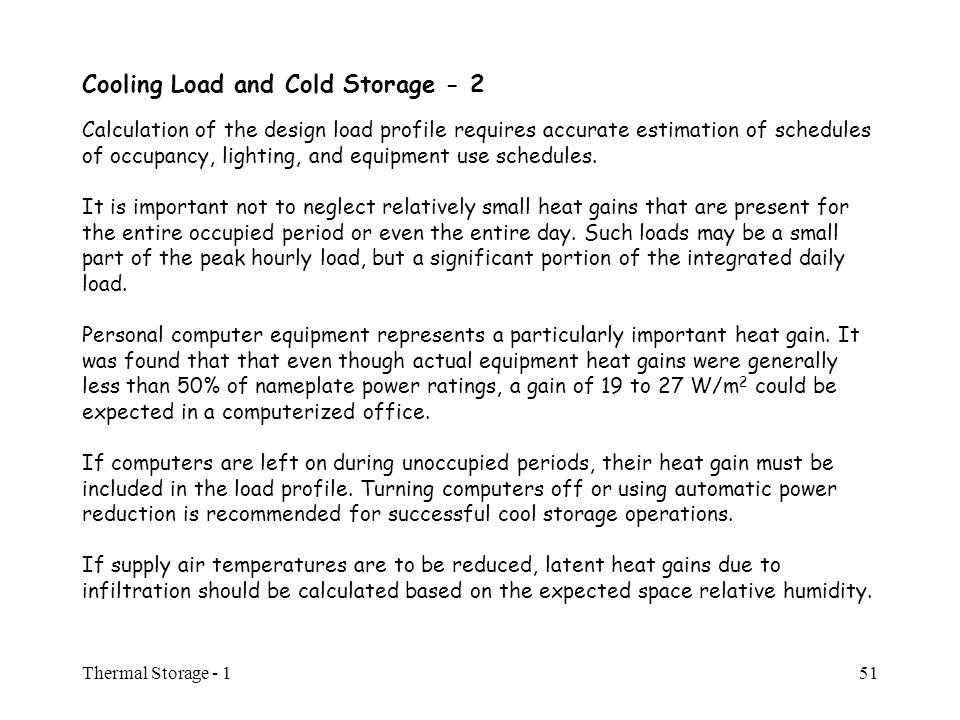 MEBS 6008 Thermal Storage - I Thermal Storage ppt download