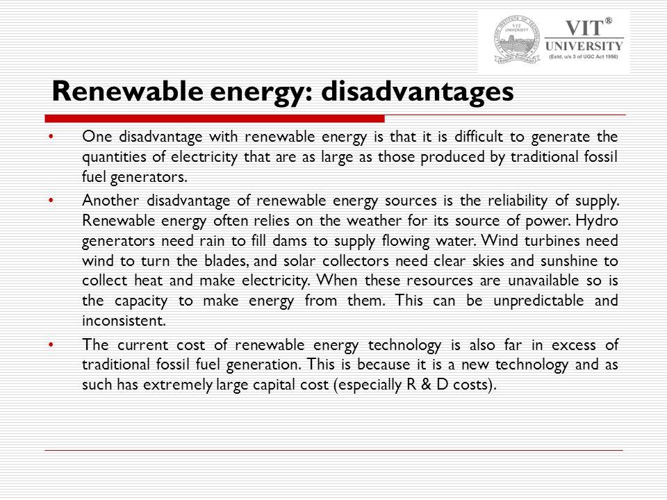 Renewable Energy Sources Types Advantages And Limitations Ppt