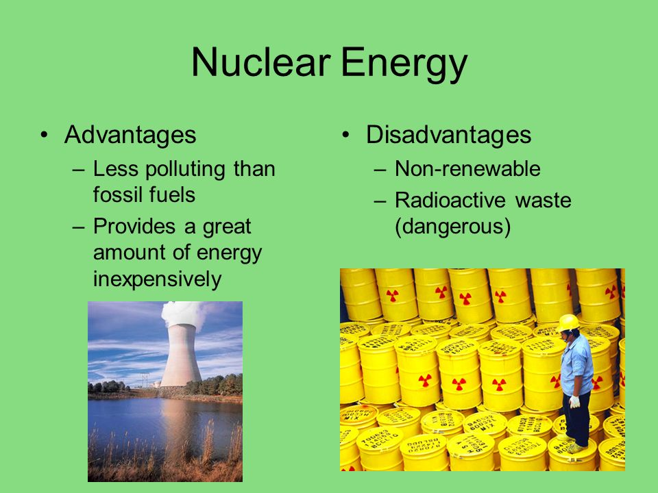 Nuclear Energy Advantages Disadvantages