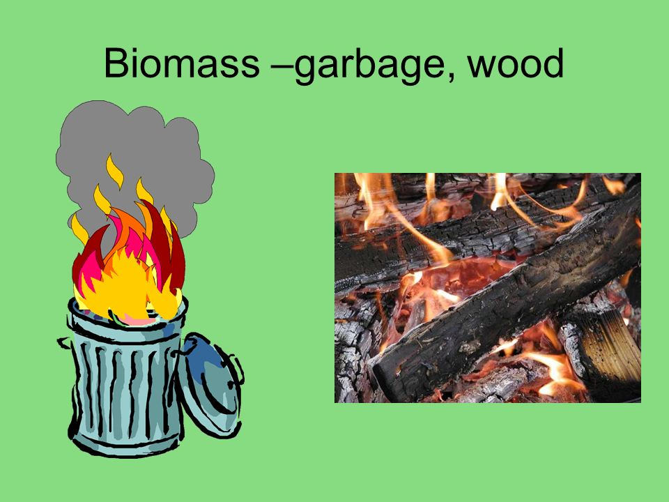 Biomass –garbage, wood