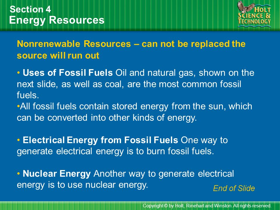 Energy Resources Section 4