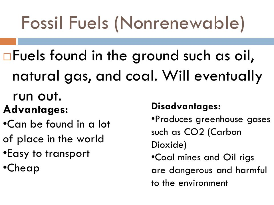 Fossil Fuels (Nonrenewable)