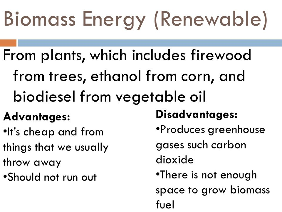 Biomass Energy (Renewable)