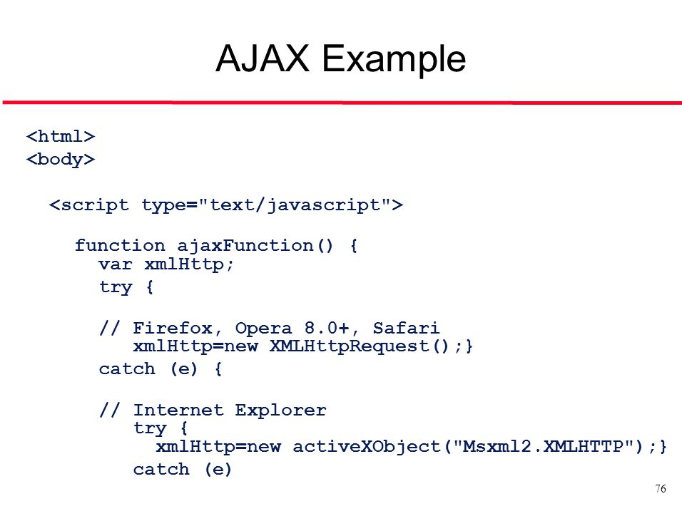What Is Ajax With Example