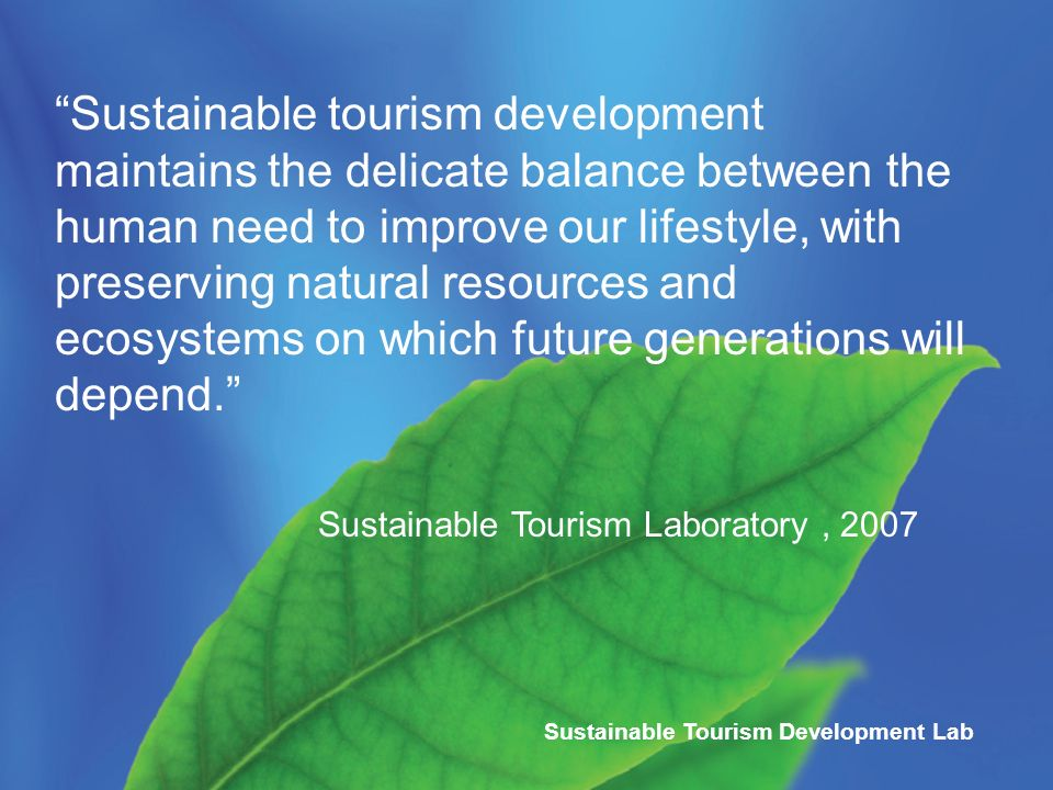 Sustainable Tourism Planning and Development Laboratory