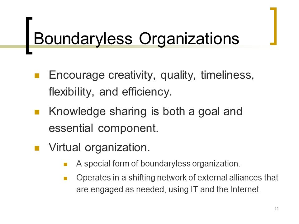 Boundaryless Organizations