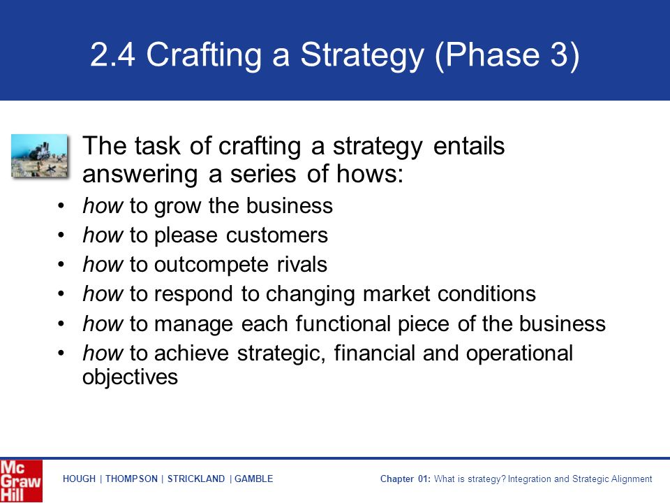 Crafting A Strategy In Strategic Management Ppt