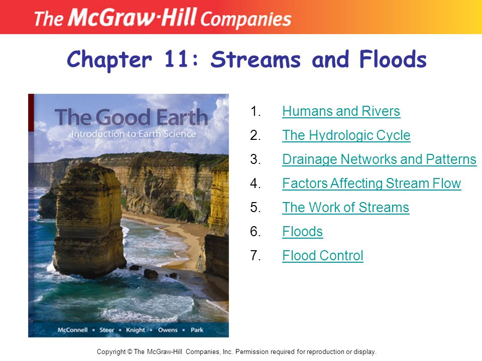 Chapter 11: Streams and Floods