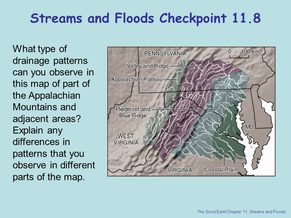 Streams and Floods Checkpoint 11.8