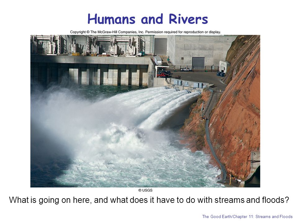 Humans and Rivers What is going on here, and what does it have to do with streams and floods.