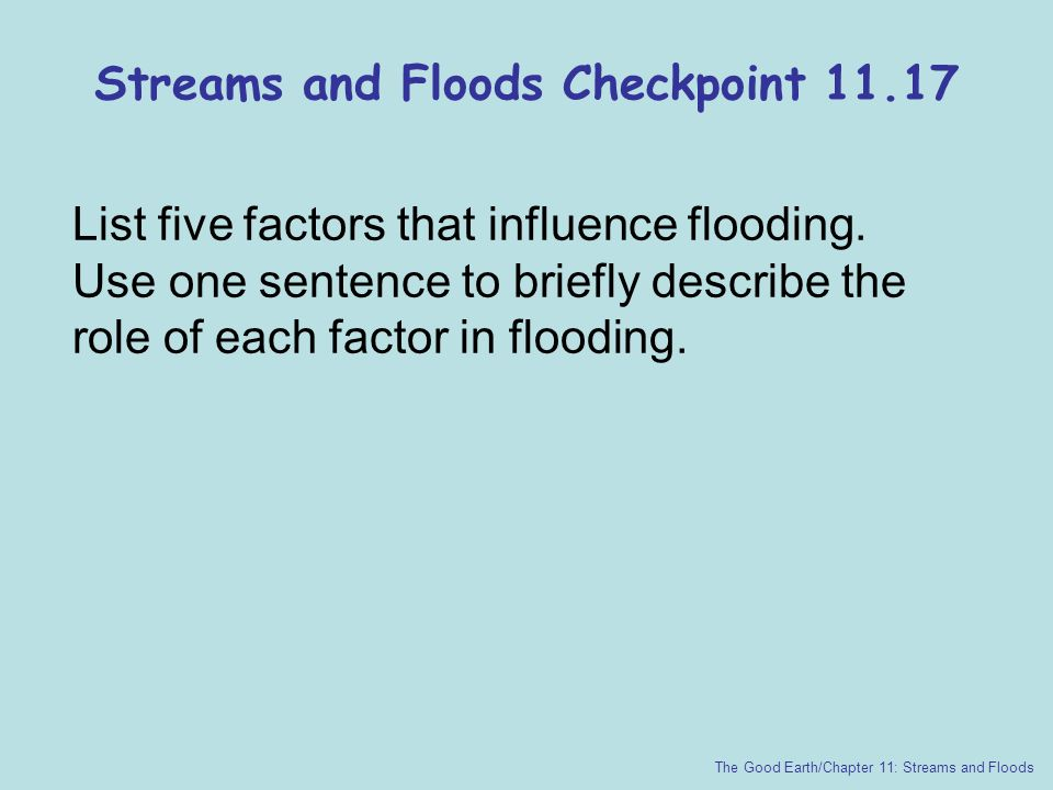 Streams and Floods Checkpoint 11.17