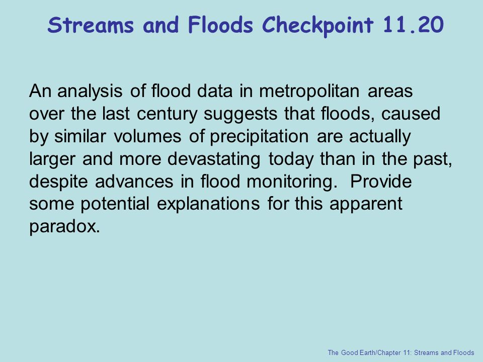 Streams and Floods Checkpoint 11.20