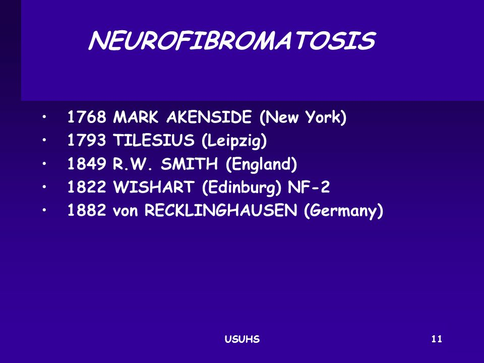 NEUROFIBROMATOSIS 1768 MARK AKENSIDE (New York)