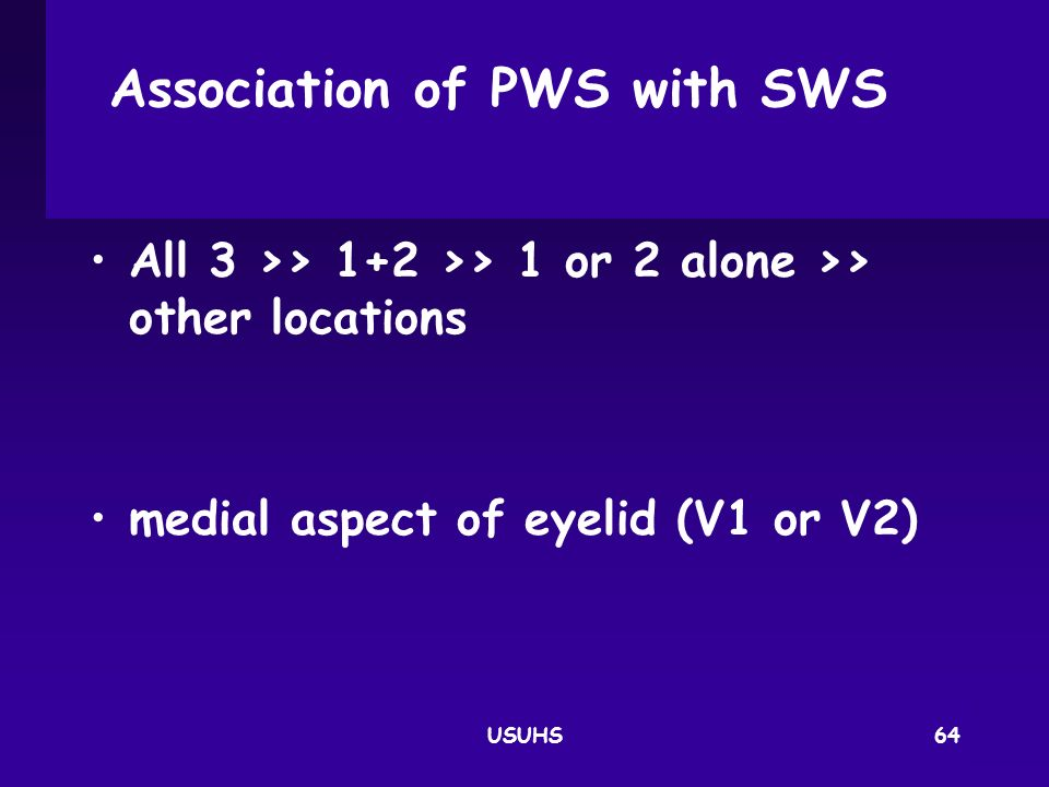 Association of PWS with SWS