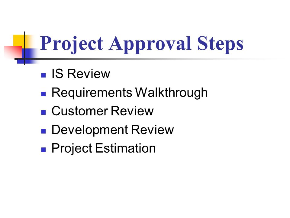 Project Approval Steps