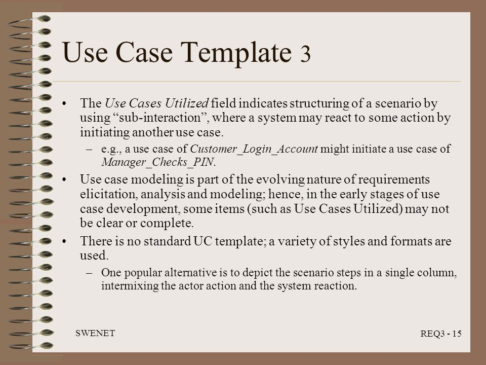 Use Case Analysis Swenet Req3 Module July Ppt Video Online Download