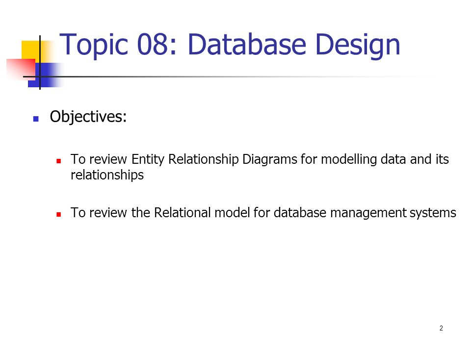 ZEIT2301 – Database Design Entity-Relationship Diagrams