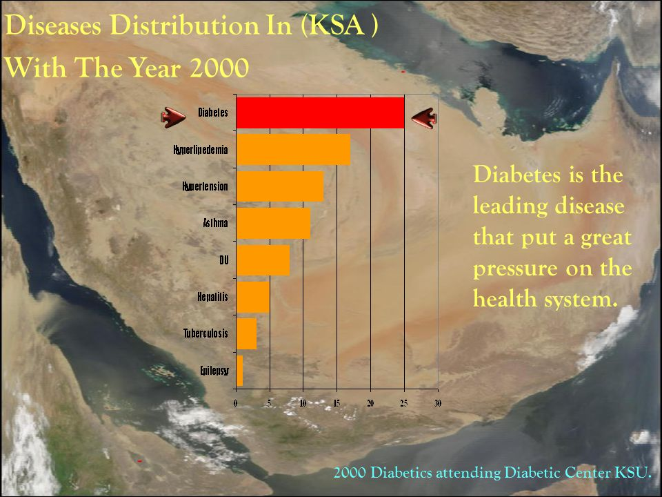 Diseases Distribution In (KSA ) With The Year 2000