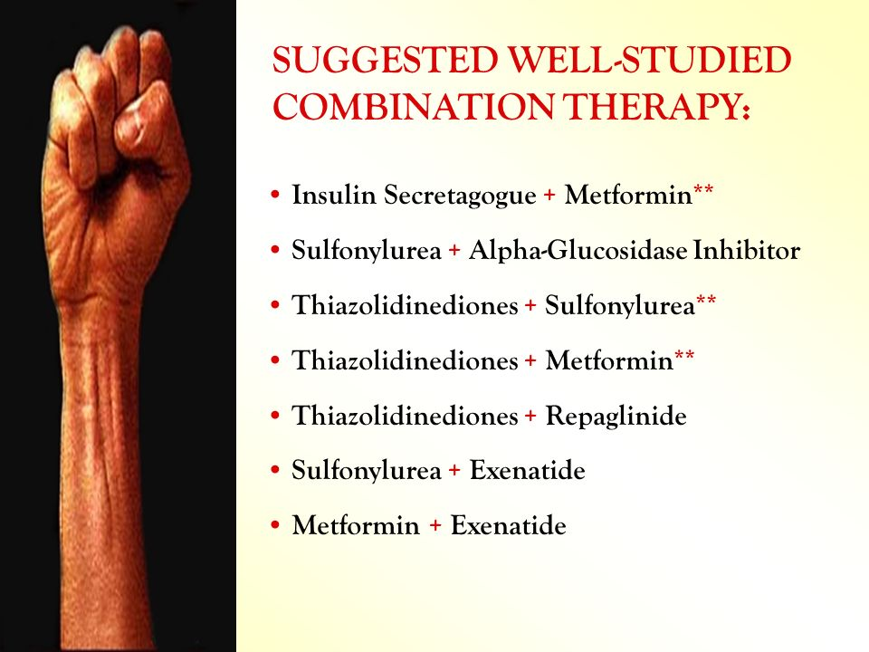 SUGGESTED WELL-STUDIED COMBINATION THERAPY: