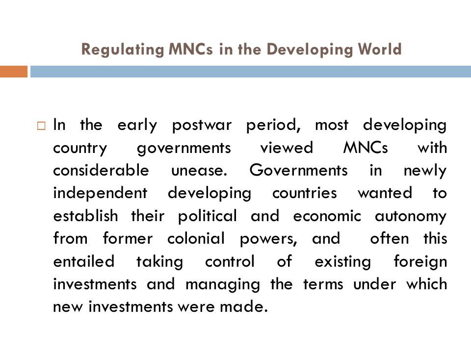 multinational corporations and developing countries