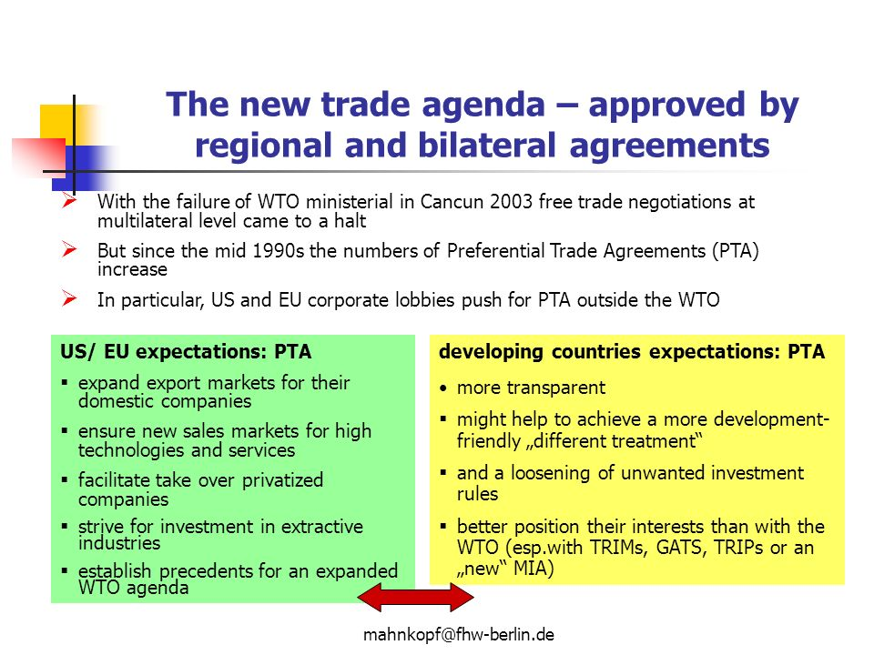 The Impact Of Regional And Bilateral Agreements Ontrade And