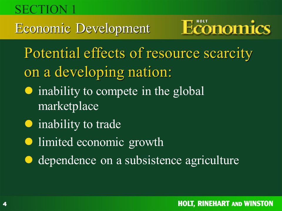 effects of scarcity in economics
