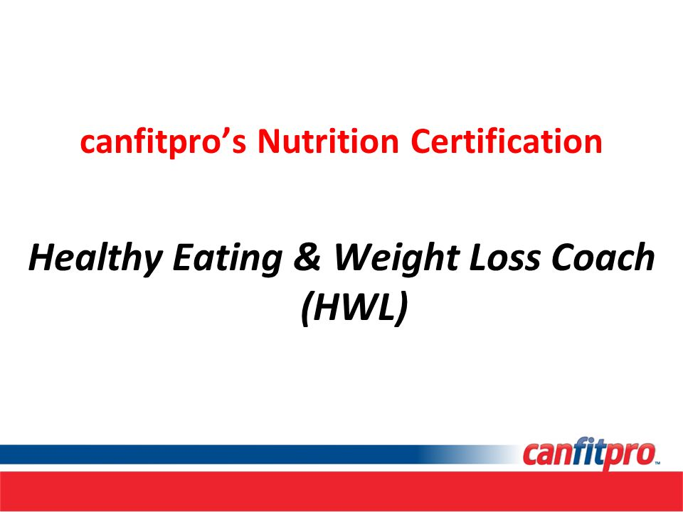 Canfitpros Nutrition Certification Ppt Download