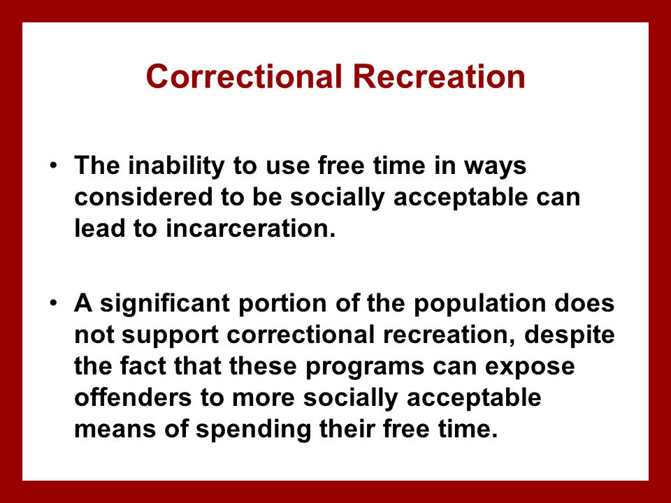 Correctional Recreation