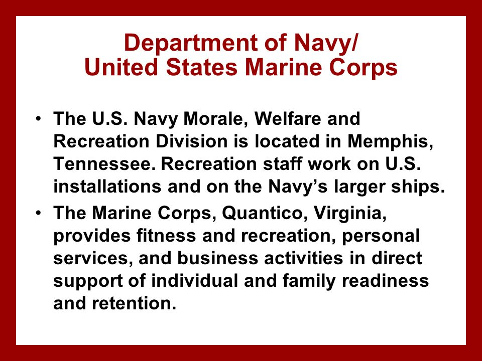 Department of Navy/ United States Marine Corps