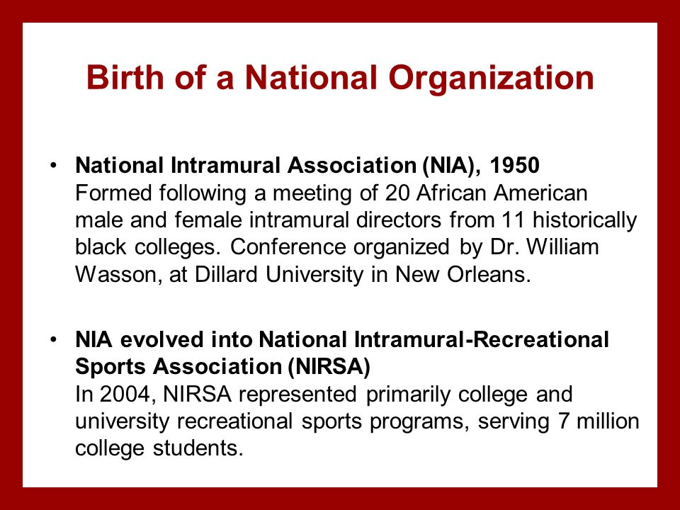 Birth of a National Organization