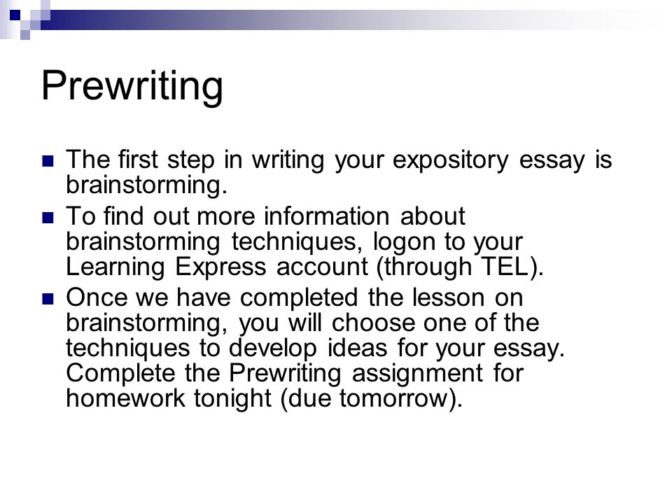brainstorming techniques for writing essays