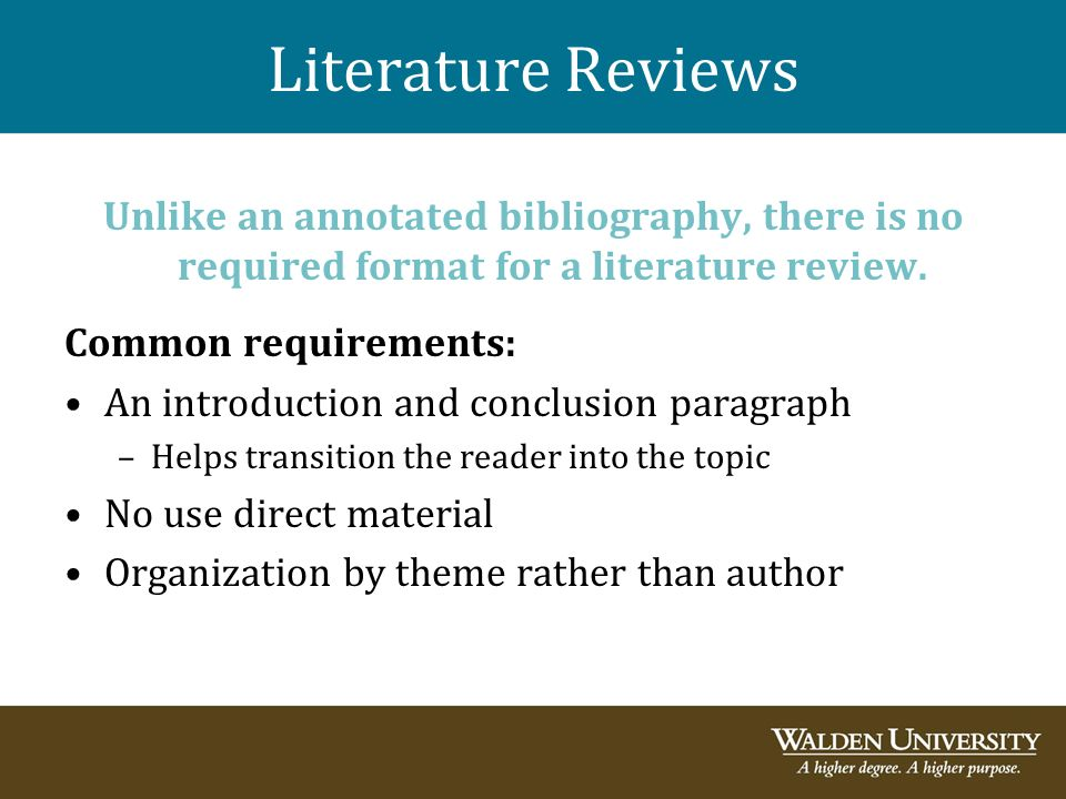 annotated bibliography conclusion
