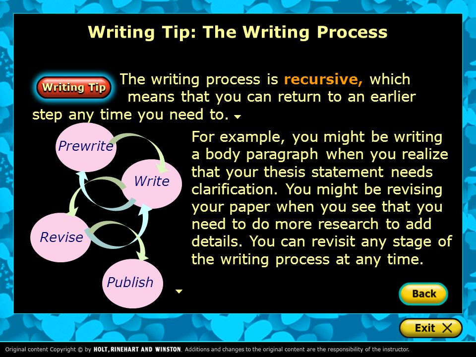 Writing Tip: The Writing Process