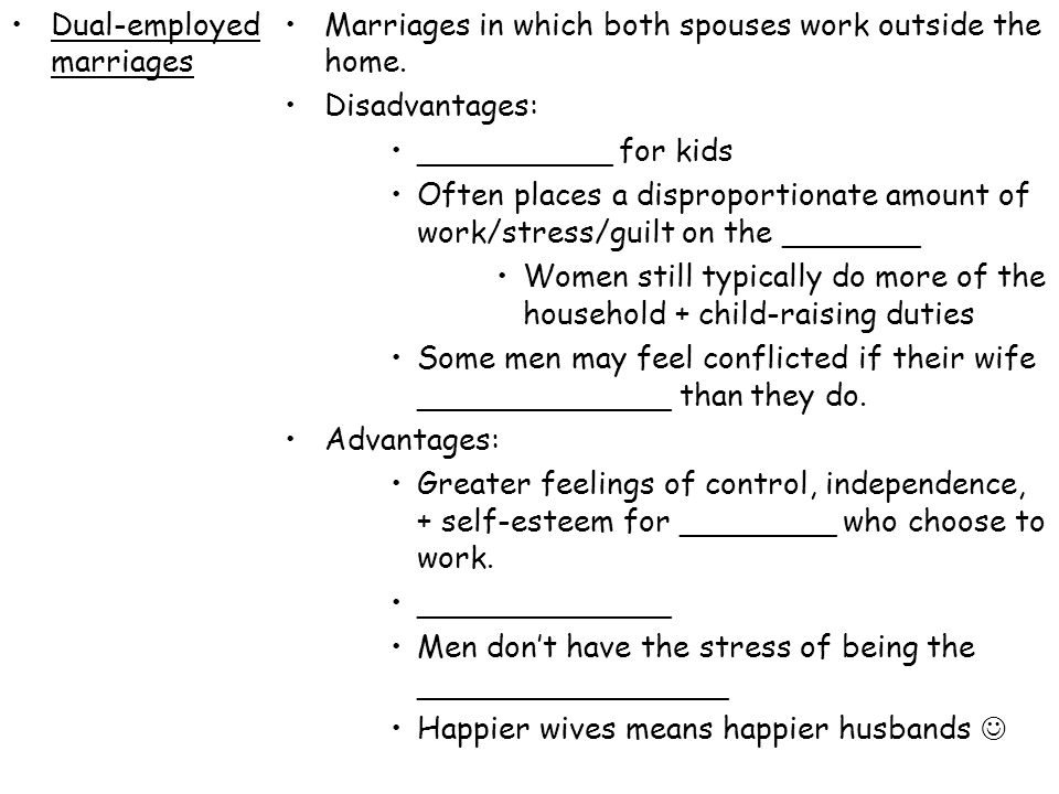 Dual-employed marriages
